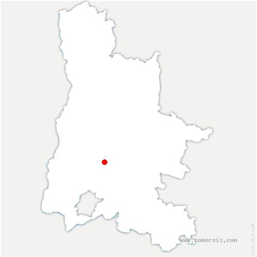 carte de localisation de Comps