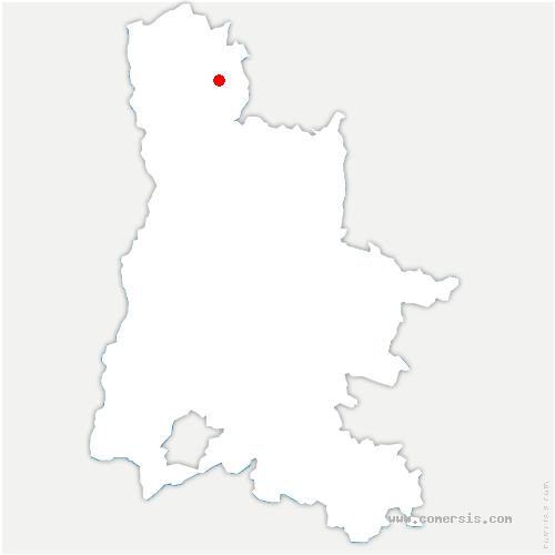 carte de localisation de Crépol