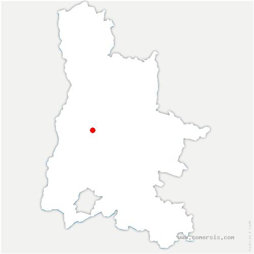 carte de localisation de Crest