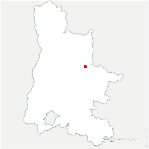 carte de localisation de Die