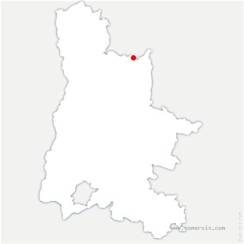 carte de localisation de Échevis