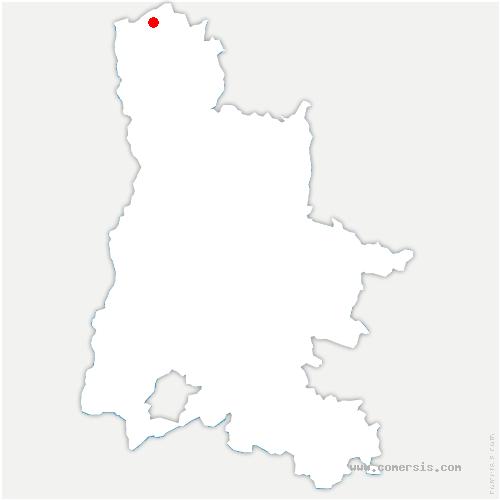 carte de localisation de Épinouze