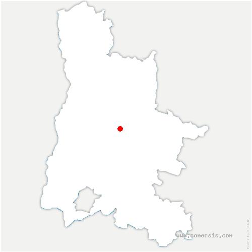 carte de localisation de Espenel