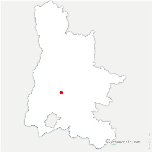 carte de localisation de Félines-sur-Rimandoule