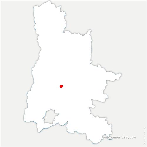 carte de localisation de Francillon-sur-Roubion