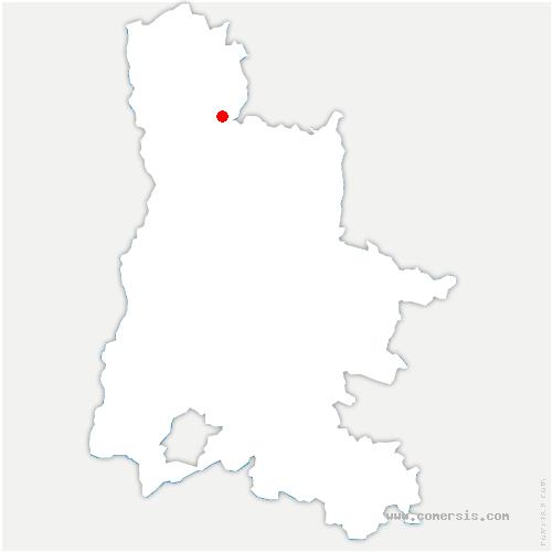 carte de localisation de Génissieux