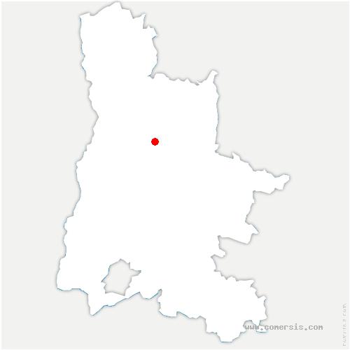 carte de localisation de Gigors-et-Lozeron