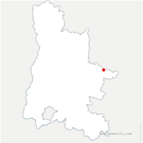 carte de localisation de Glandage
