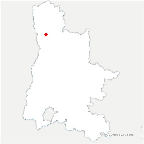 carte de localisation de Granges-les-Beaumont
