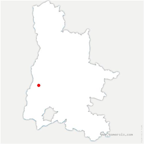 carte de localisation de Laupie
