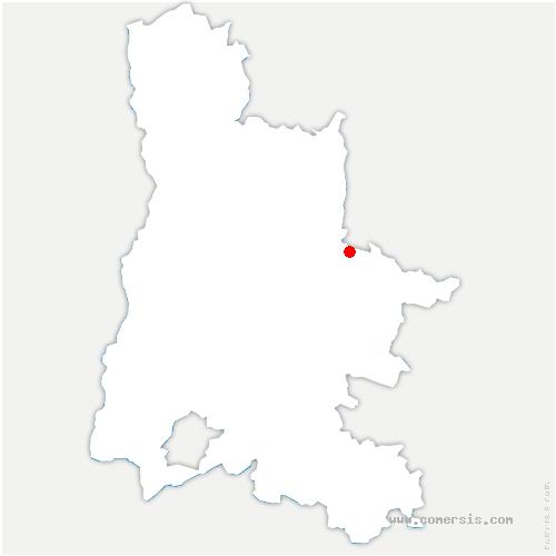 carte de localisation de Laval-d'Aix