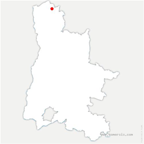 carte de localisation de Lens-Lestang