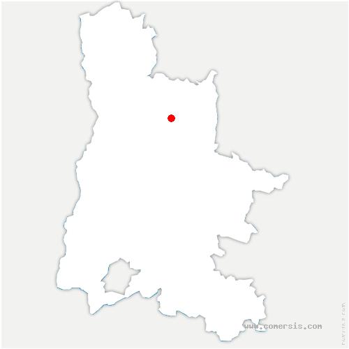carte de localisation de Léoncel