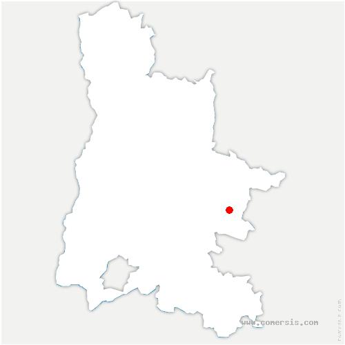 carte de localisation de Lesches-en-Diois