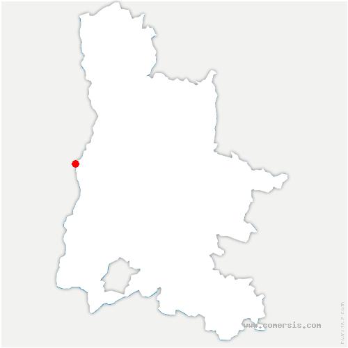 carte de localisation de Loriol-sur-Drôme