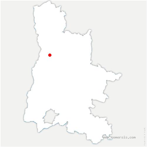 carte de localisation de Malissard