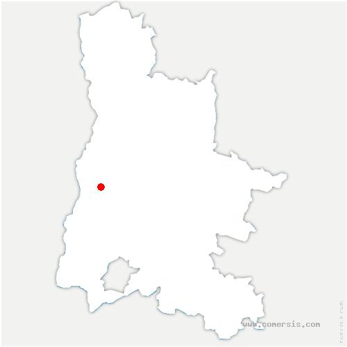 carte de localisation de Marsanne