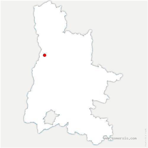 carte de localisation de Montéléger