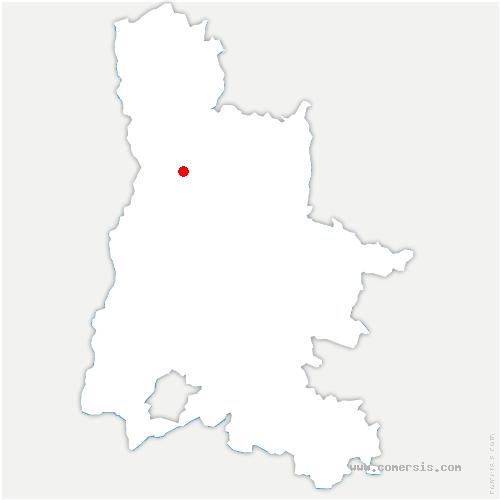 carte de localisation de Montélier