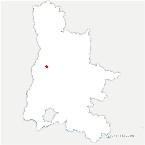 carte de localisation de Montoison