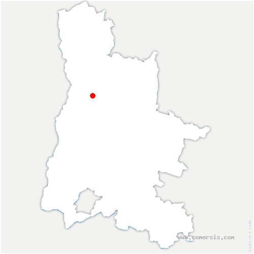 carte de localisation de Montvendre