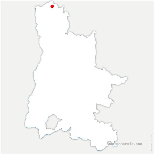 carte de localisation de Moras-en-Valloire