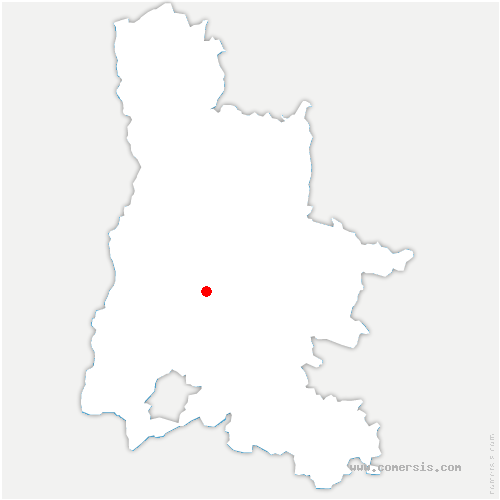 carte de localisation de Mornans