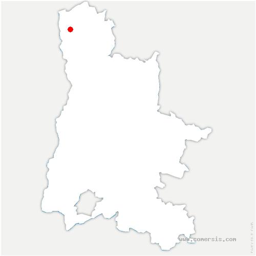 carte de localisation de Motte-de-Galaure