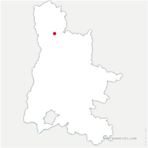 carte de localisation de Mours-Saint-Eusèbe