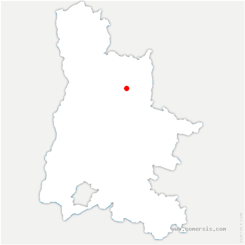 carte de localisation de Omblèze