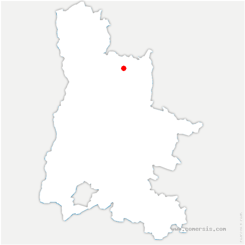 carte de localisation de Oriol-en-Royans