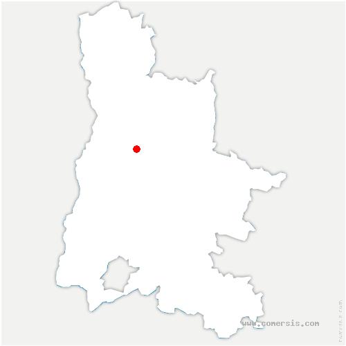carte de localisation de Ourches