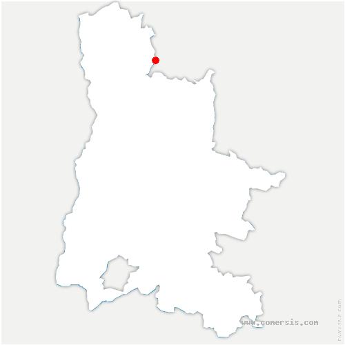 carte de localisation de Parnans