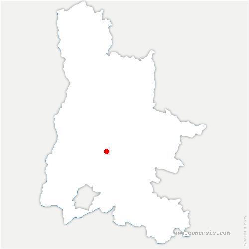 carte de localisation de Poët-Célard