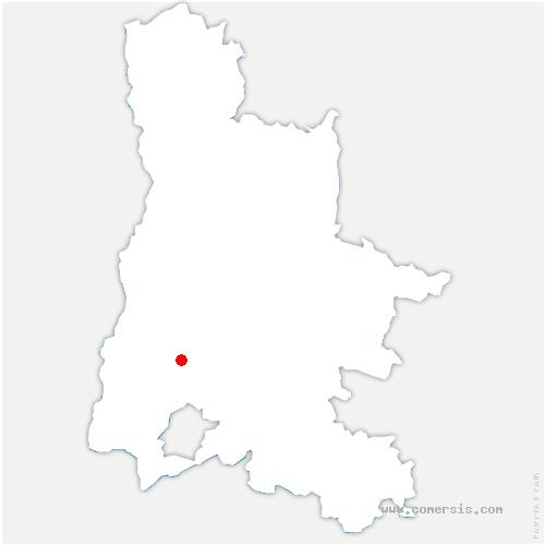 carte de localisation de Poët-Laval