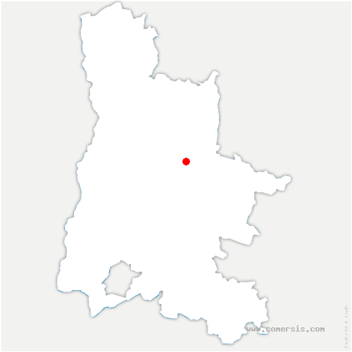 carte de localisation de Ponet-et-Saint-Auban