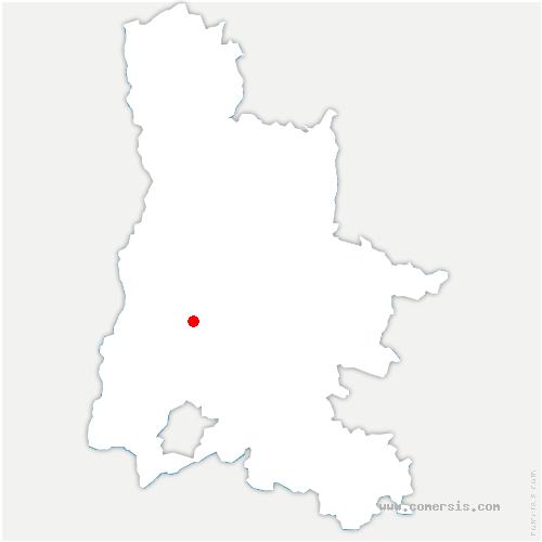 carte de localisation de Pont-de-Barret