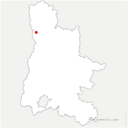 carte de localisation de Pont-de-l'Isère
