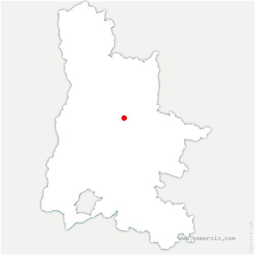 carte de localisation de Pontaix