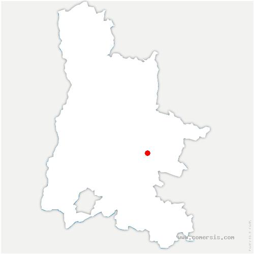 carte de localisation de Poyols