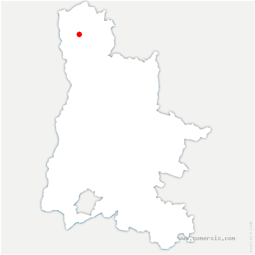 carte de localisation de Ratières