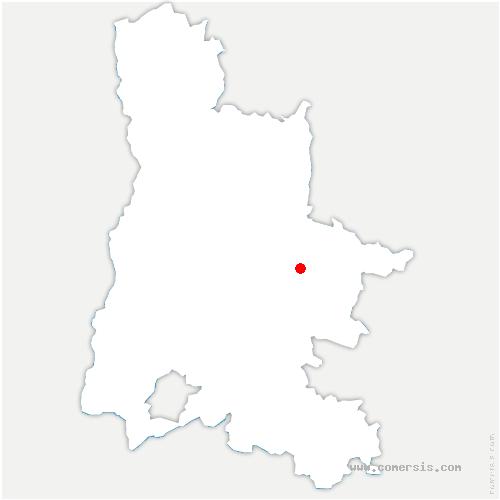 carte de localisation de Recoubeau-Jansac