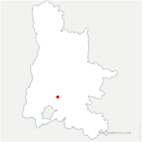 carte de localisation de Roche-Saint-Secret-Béconne