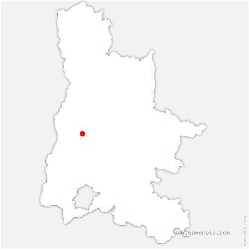 carte de localisation de Roche-sur-Grane