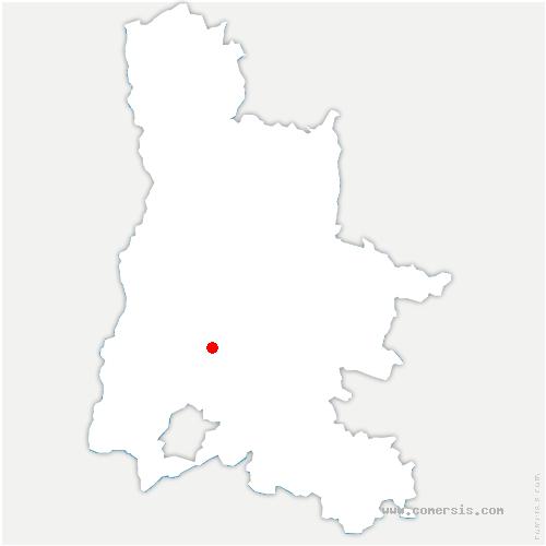 carte de localisation de Rochebaudin