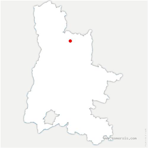 carte de localisation de Rochechinard