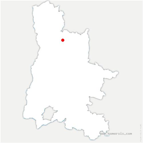 carte de localisation de Rochefort-Samson