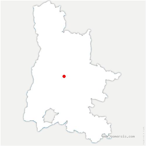 carte de localisation de Saillans