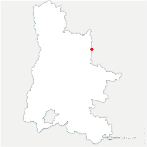 carte de localisation de Saint-Agnan-en-Vercors