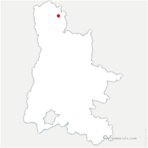 carte de localisation de Saint-Christophe-et-le-Laris